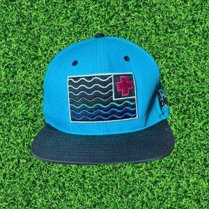 🏁  Pink Dolphin Waves Flag Snapback Hat 🏁